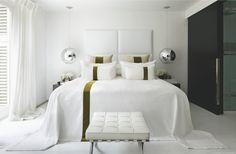 white bedroom by Kelly Hoppen