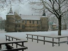 Kasteel Helmond in de winter