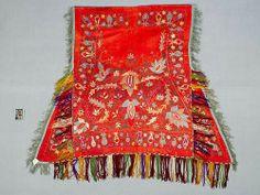 Uzbek horse cloth, silk embroidery, circa 1880
