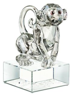 Swarovski Crystal  Zodiac Monkey - Chinese Zodiac Monkey.  Swarovski Crystal Figurine.