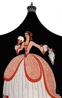 Ŧhe ₵oincidental Ðandy: The Prolific Art, Illustrations & Designs of Erté Art Deco Fashion, Vintage Fashion, Fashion Design, Art Deco Illustration, Art Illustrations, Art Nouveau, Art Deco Artwork, Erte Art, Romain De Tirtoff
