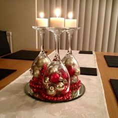 Christmas dekoration – Welcome My World Christmas Candle Decorations, Christmas Ornament Crafts, Christmas Candles, Christmas Projects, Table Decorations, Table Centerpieces, Xmas Crafts, Elegant Christmas, Simple Christmas
