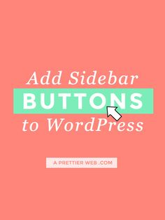 In this tutorial I go through every step of adding buttons to your WordPress Sidebar. No plugins required! I will show you how to create easy links, add them to your sidebar and then style theme to make them look like buttons. You can highlight specific pages on your site, categories or perhaps some social Read More »