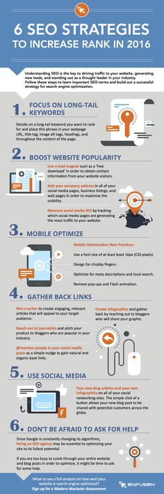 6 SEO Strategies to Increase Rank in 2016 Infographic  #infographics, #seo, #promotion, #onlinepromotion #marketing #digitalmarketing #internetmarketing #onlinemarketing #inspiration #netpeak #ideasforbusiness
