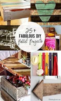 The best DIY projects & DIY ideas and tutorials: sewing, paper craft, DIY. Diy Crafts Ideas Fabulous DIY Pallet Projects -Read More - Pallet Crates, Pallet Art, Diy Pallet Projects, Wooden Pallets, Pallet Ideas, Diy Projects To Try, Wood Projects, Craft Projects, Pallet Wood