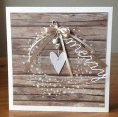Schneeflockenkranz von Alexandra Renke, Weihnachtskarte