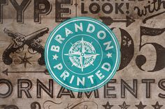 Brandon Printed by HVD Fonts on Creative Market