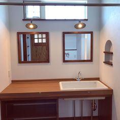 Bathroom/洗面台/アンティーク/ニッチ/レトロ/洗面...などのインテリア実例 - 2017-11-12 14:26:15 | RoomClip (ルームクリップ)