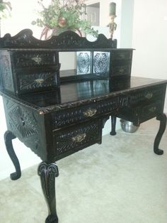 Antique Ebony Desk