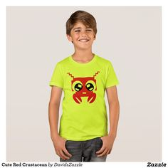 Cute Red Crustacean Boy's Tee Available on many products! Hit the 'available on' tab near the product description to see them all! Thanks for looking!  @zazzle #art #cute #cartoon #crustacean #lobster #crab #drawing #digital #red #sweet #nice #friend #women #men #kids #clothes #fashion #style #apparel #tee #tshirt #hoody #sweatshirt #shop #gift #idea #shopping #buy #sale