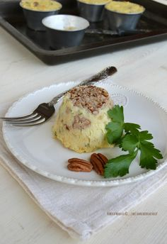 sformatini di sedano rapa patate e noci pecan  http://www.facciamocheerolacuoca.ifood.it/2015/01/sformatini-di-sedano-rapa-patate-e-noci-pecan.html