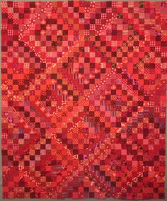 nifty quilts -scrappy red trip quilt
