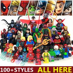 100+Style Single Sale DC Marvel Super Heroes Avengers SUPERMAN Batman Assemble Minifigures Model Building Blocks Kids Toys Gifts #>=#>=#>=#>=#> Click on the pin to check out discount price, color, size, shipping, etc. Save and like it!