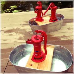 DIY Pumping Stations...explorations early learning