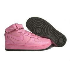 Nike Air Force One High Pink Black Womens Skateboarding Shoes On Sale f7913eb70