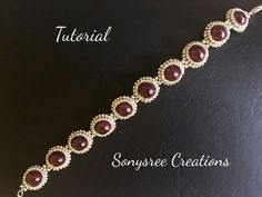 (1) DIY pearl beaded bracelet(simple and elegant) square Stitch - YouTube
