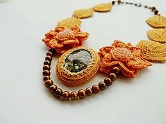 Her crocheted jewelry is so beautiful!