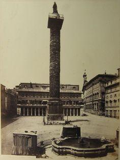 Piazza Colonna (Roma) 1860