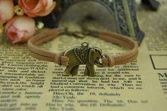 Retro Cuff Bracelet Bronze Elephant BraceletBrown by BeautifulShow, $1.50