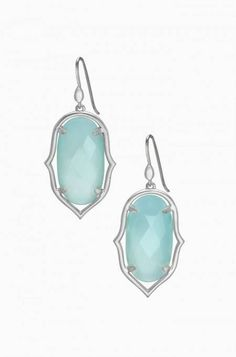 Amala Chandeliers - Silver   Stella & Dot // Hand-cut, semi-precious white agate set in a semi shiny gold frame. Elegant drops for any occasion // Love these earrings. They also come in gold and white! // Click to shop my online boutique, and let me be your personal stylist! //