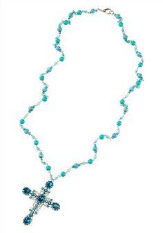 Kreuzkette im Online Shop von Ackermann Versand Shops, Sea, Silver, Blue, Jewelry, Schmuck, Tents, Jewels, Ocean