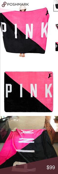 NIP VS PINK SHARPE BLANKET NIP VS PINK SHARPE BLANKET.  PINK ON FLEEK PINK Victoria's Secret Accessories