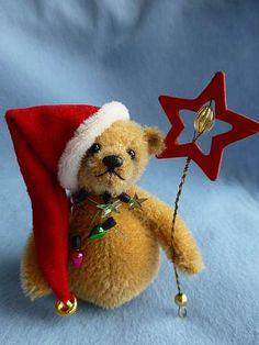 Roly Poly Christmas bear by Les Bears. For sale on www.lesbears.com.au