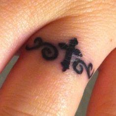 My wedding ring tattoo! Elegant, feminine I love it! Wedding Ideas | tattoos picture wedding ring tattoos