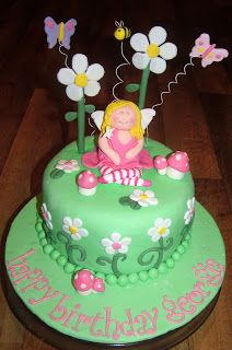 Fairy Garden Cake by Creative Character Cakes