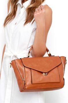 Satchel Up Tan Handbag at Lulus.com!