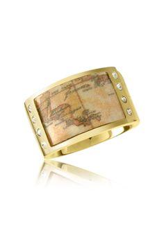 Alviero Martini 1A Classe 1a Prima Classe - Gold-plated Geo Band Ring