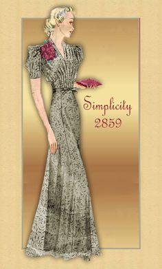 Vintage Dress Pattern Simplicity 2859 1930s by FloradoraPresents, $68.00