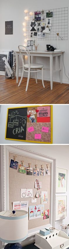 PAINEL INSPIRAÇÃO >>> Além de nos inspirar, o painel é uma ótima opção de decoração, você pode colocar algumas fotos ou quadrinhos e decorar algum ambiente da sua casa ou do seu escritório.