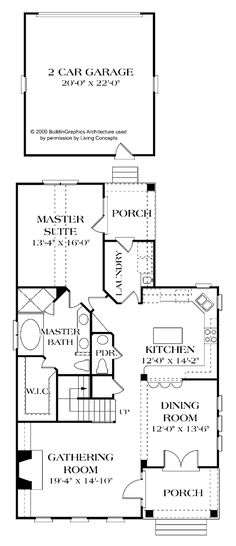 The garage would have to be attached, so then attach it with a laundry mud room, like it layout though, not a huge fan of entry into living room but it's a nice plan, would have to ha r a pantry too, preferably walk-in