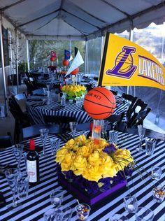 LA Basketball centerpieces- google search