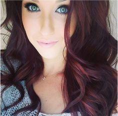 Blackish reddish hair