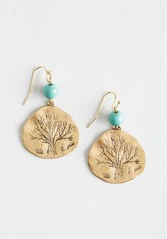 Dreamy Detail Earrings. Ethereal features and entrancing elements make these dangling earrings your forever faves! #mint #modcloth