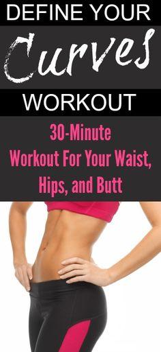 quick at home workout for waist hips butt pinterest