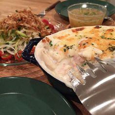 hi_rose80 on Instagram pinned by myThings Today's dinner .  パングラタンでこんばんは☺︎ .  離乳食用に買った食パンの耳が残ったので、パングラタンに。 いつもはラスク作って私のおやつにしてたけど、最近太りつつあるので せっかく妊娠前以上に減ったのに。。 あ、できてませんよ。 残念ながら . .  #dinner #homemade #foodie #foodpic #foodporn #gratin #kaumo #kurashirufood #cookingram #delistagrammer #クッキングラム#デリスタグラマー#夕飯#夕食#晩ごはん#おうちごはん#新米ママ #男の子ママ #生後10ヶ月 #10months #5月生まれ