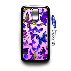 Butterflies Vector Pattern purple Samsung Galaxy S5 Case Cover - PDA Accessories