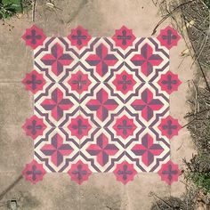 Javier De Riba Spray Paints the Floors of Derelict Buildings With Geometric, Tile-Like Patterns