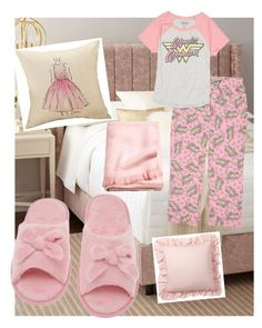 °Pajama Party° by paibear on Polyvore featuring polyvore fashion style Briefly Stated Deluxe Comfort Pottery Barn clothing