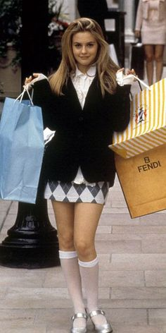 Blouse clueless costume clueless cluess clueless the movie clueless looks clothes clueless shirt vintage pretty Clueless Fashion, 2000s Fashion, Cher Clueless Outfit, Cher From Clueless, Dionne Clueless Outfits, 80s Girl Fashion, Clueless Style, Clueless 1995, Mean Girls