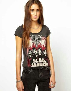 Awesome tee shirt i just bought that is rather feminine. Black Sabbath rules!