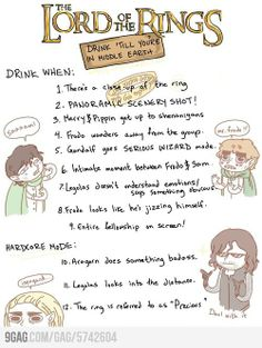 The LOTR Drinking Game