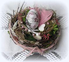Jahreszeitentisch -  Tischdeko * Nostalgie im Nest *  - ein Designerstück von Florentines-Laden bei DaWanda