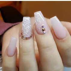 Perfect Nails, Gorgeous Nails, Pretty Nails, Cute Acrylic Nails, Acrylic Nail Designs, Nail Art Designs, Polygel Nails, Hair And Nails, Dimond Nails