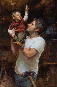 """Hero"" Oil by Daniel Gerhartz"