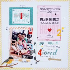 pocket pages so loved detailed shot.  mambi blog.  Scrapbook layout. PL used in a traditional scrapbooking page.