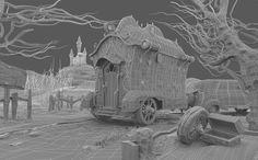 ENVIRONMENTS - JMLINARES - CGModeler Hard Surface Modeling, Digital Sculpting, Character Modeling, 3d Modeling, 3d Assets, 3d Background, Character Design Animation, Wireframe, Fantasy World